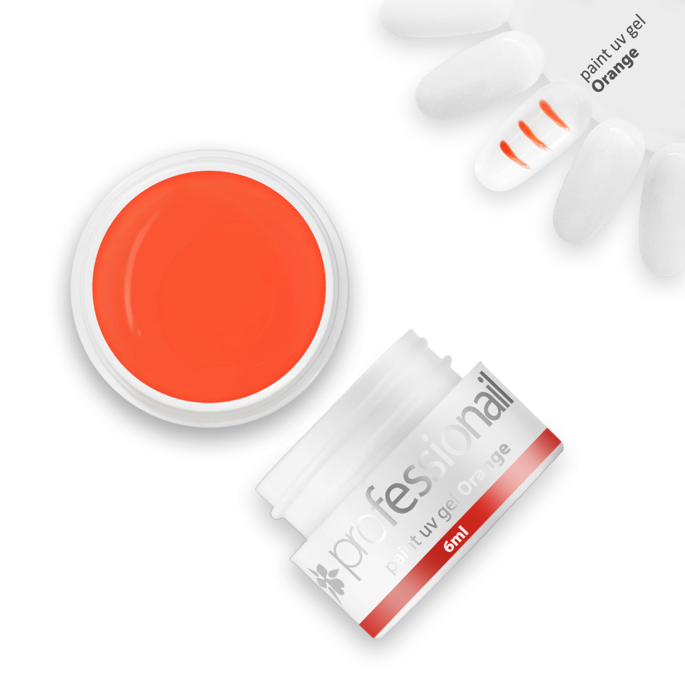 LED-UV zselék - Paint UV zselé 5ml Professionail® Orange