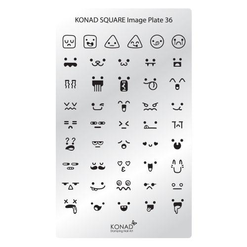 KONAD® | sablon SQUARE - Körömnyomda lemez | KONAD® Square 36
