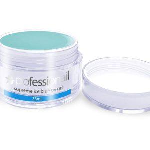 Egyfázisú/Építő LED-UV zselék - UV Zselé egyfázisú ICE BLUE 33ml Professionail PREMIUM
