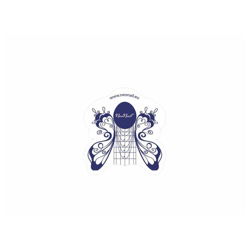 Műköröm sablonok - Műköröm sablon NeoNail Lepke / 1 darab