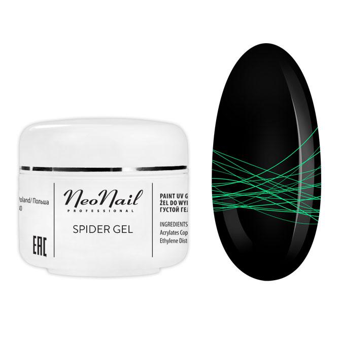 Spider LED-UV zselé 5ml NeoNail neon zöld