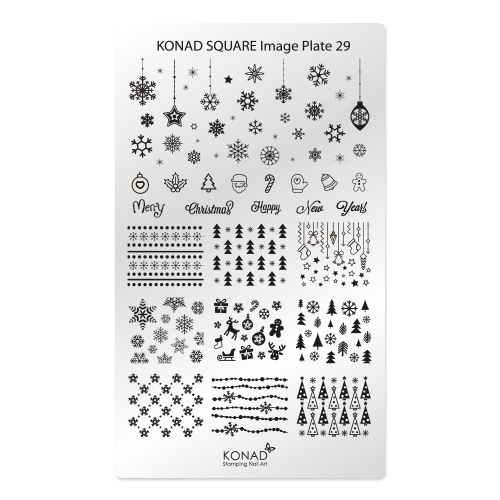 KONAD® | sablon SQUARE - Körömnyomda lemez KONAD Square 29
