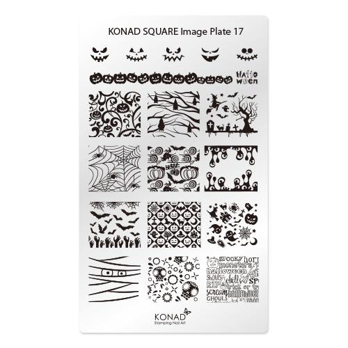 KONAD® | sablon SQUARE - Körömnyomda lemez KONAD Square 17