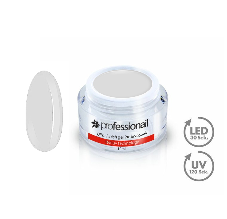 Finish LED-UV zselék - UV Zselé egyfázisú Ultra Finish gél Professionail 15ml
