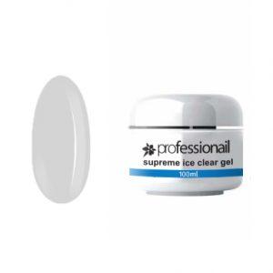 Egyfázisú/Építő LED-UV zselék - UV zselé egyfázisú ICE CLEAR 100ml Professionail PREMIUM