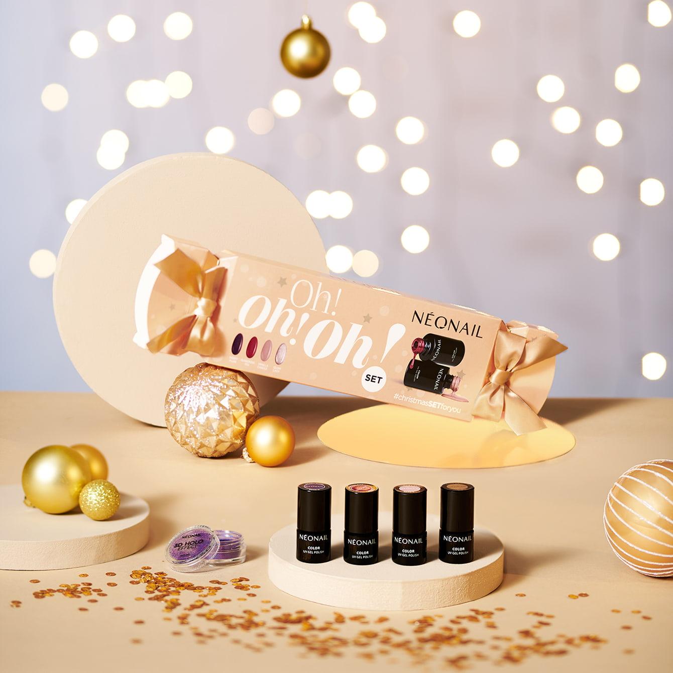 Gél lakk szettek - Karácsonyi szett NeoNail® Oh! Oh! Oh!