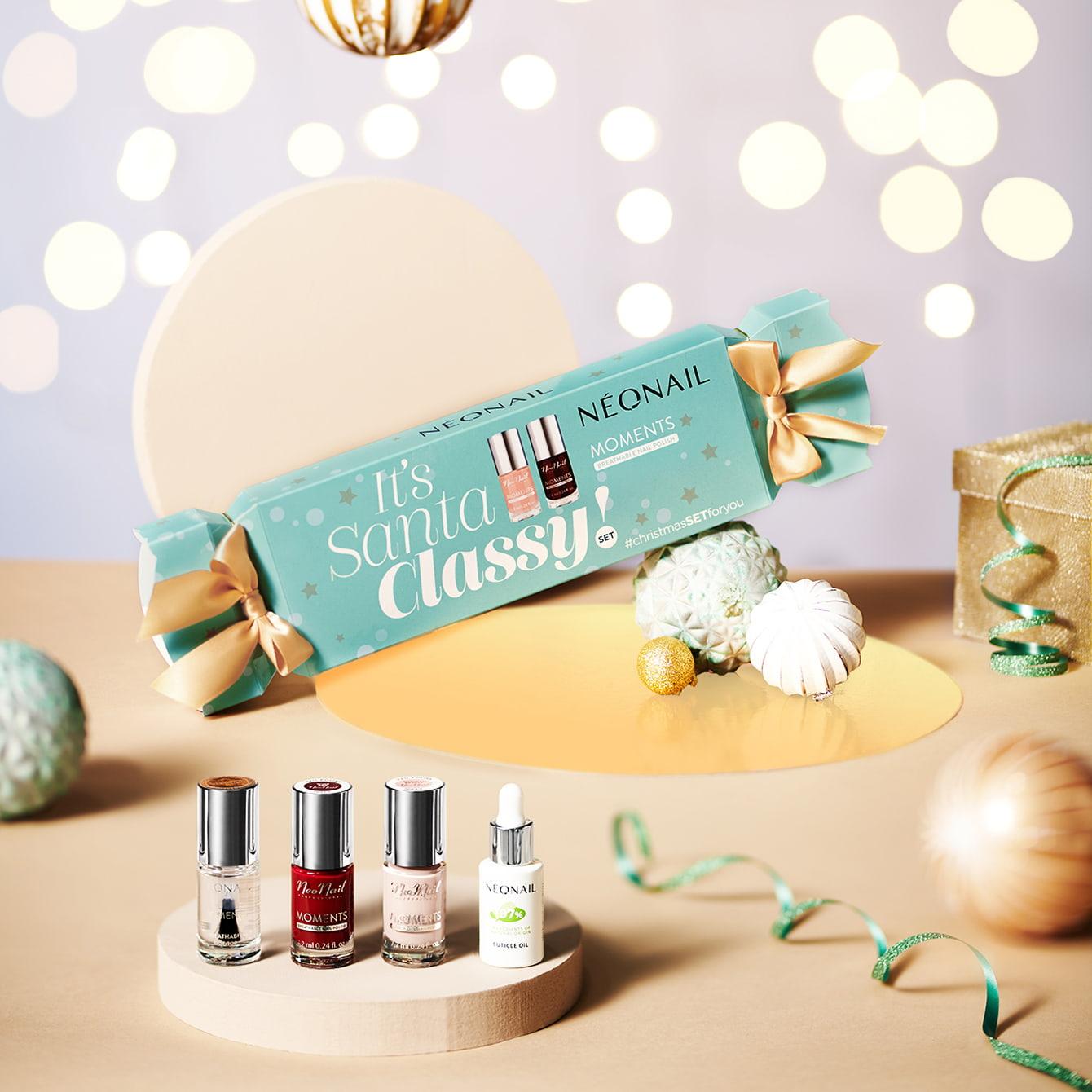 Gél lakk szettek - Karácsonyi gél lakk szett NeoNail® Santa Classy