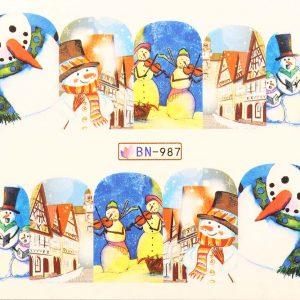 Karácsonyi matricák - Vizes körömmatrica X-mas BN-987