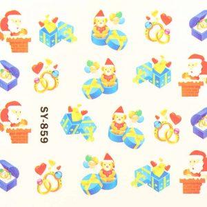 Karácsonyi matricák - Vizes körömmatrica X-mas SY-859