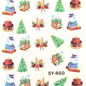 Karácsonyi matricák - Vizes körömmatrica X-mas SY-860