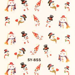 Karácsonyi matricák - Vizes körömmatrica X-mas SY-855