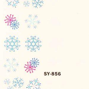 Karácsonyi matricák - Vizes körömmatrica X-mas SY-856