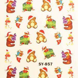 Karácsonyi matricák - Vizes körömmatrica X-mas SY-857