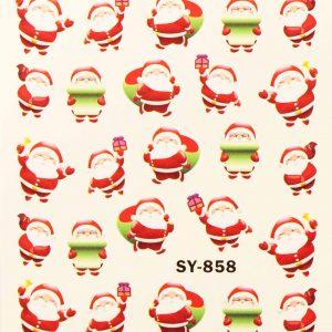 Karácsonyi matricák - Vizes körömmatrica X-mas SY-858