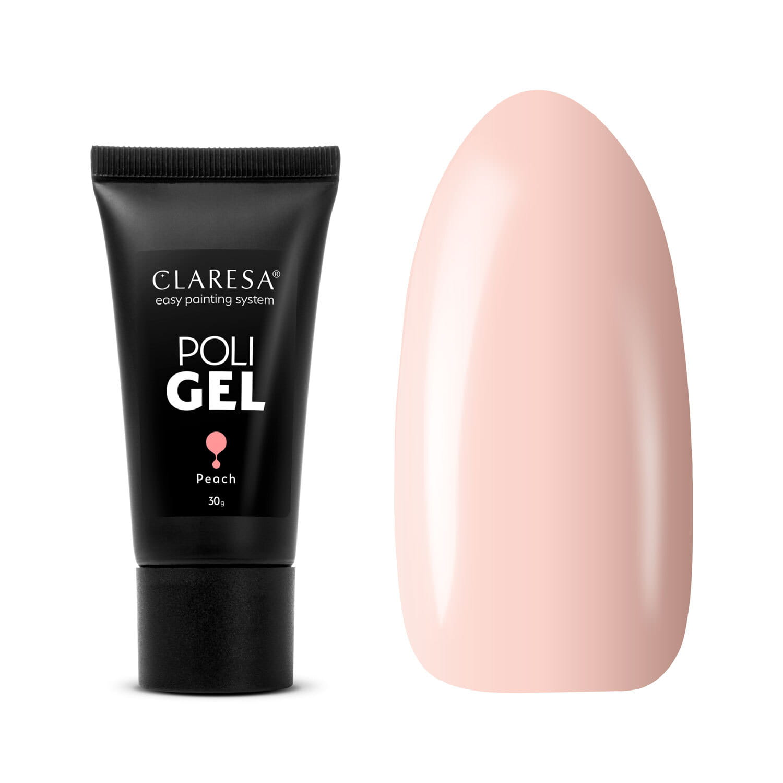 Akrygél - CLARESA® POLY GÉL PEACH 30G