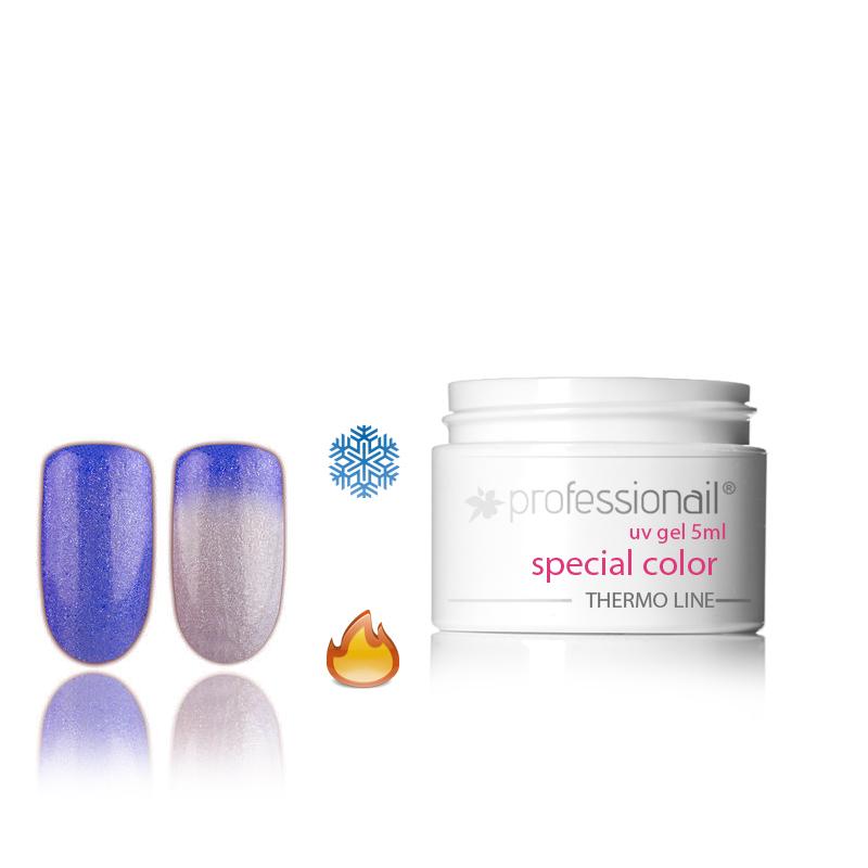 LED-UV zselék - Színes UV zselé 5ml Professionail® Glitter Thermo 14