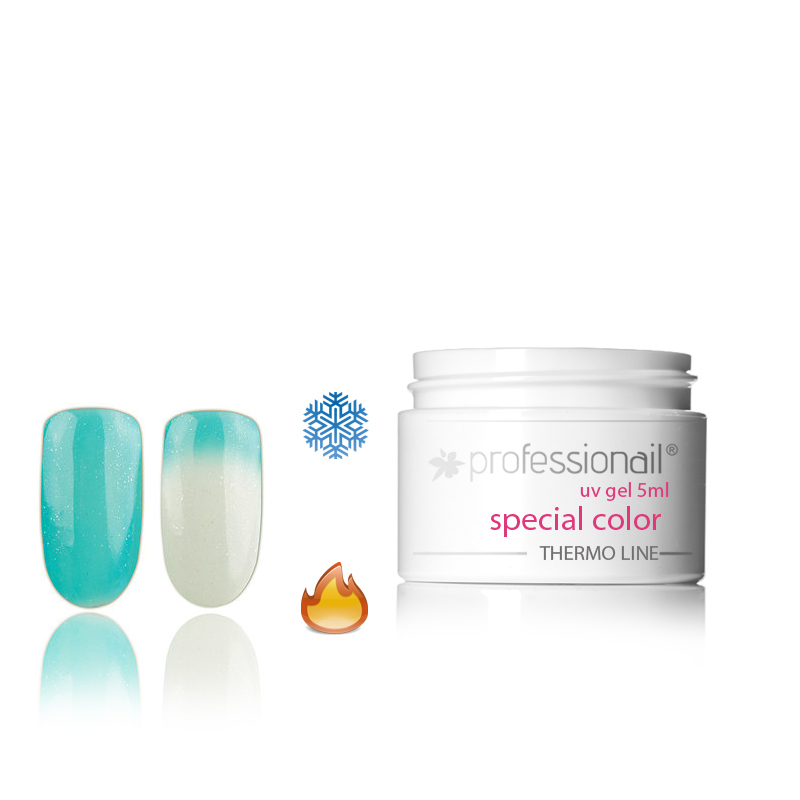 LED-UV zselék - Színes UV zselé 5ml Professionail® Glitter Thermo 15