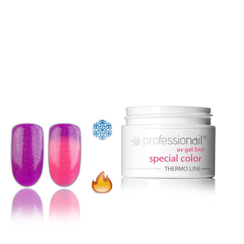LED-UV zselék - Színes LED-UV zselé 5ml Professionail® Glitter Thermo 19